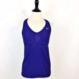 NIKE Dri-Fit Blue Racerback Athletic Tank Top M